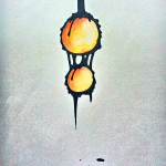 gold dripping goo drawing photograph