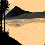 Mountain painting in Photoshop