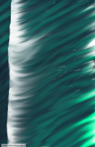 Photoshop painting called, Making Waves.""