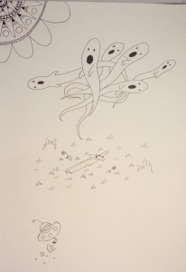 Micron pen doodle