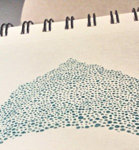 Dotted with colored pencil