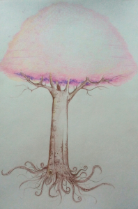 """Fluffy Tree"" drawing"