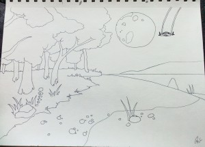 Drawing from No Man's Sky