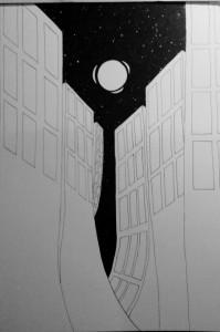 Alien City Drawing