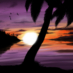 Sunset Beach painting