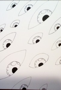 Eyes Doodle by Robert Chapman