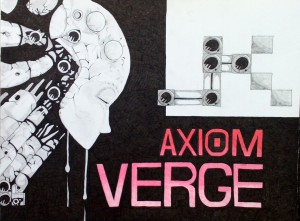 Axiom Verge fan art drawn by Robert Chapman