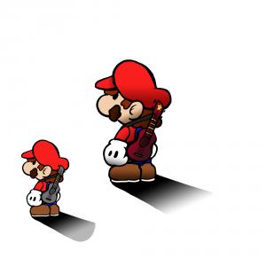 Ukulele Mario by Robert Chapman